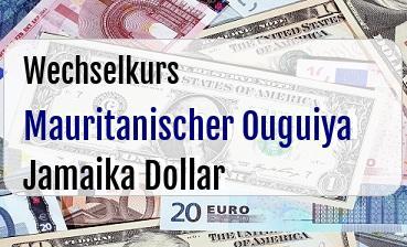 Mauritanischer Ouguiya in Jamaika Dollar