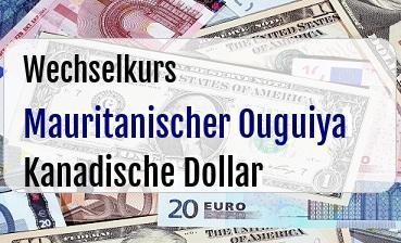 Mauritanischer Ouguiya in Kanadische Dollar
