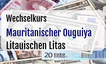 Mauritanischer Ouguiya in Litauischen Litas