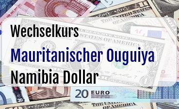 Mauritanischer Ouguiya in Namibia Dollar