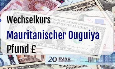 Mauritanischer Ouguiya in Britische Pfund