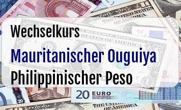 Mauritanischer Ouguiya in Philippinischer Peso