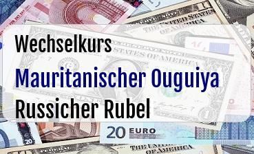 Mauritanischer Ouguiya in Russicher Rubel