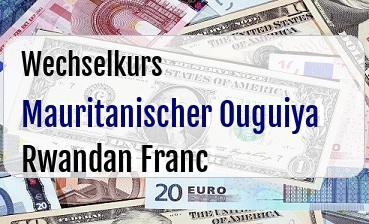 Mauritanischer Ouguiya in Rwandan Franc