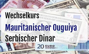Mauritanischer Ouguiya in Serbischer Dinar
