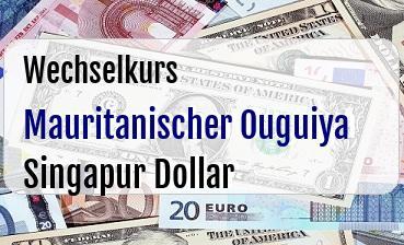 Mauritanischer Ouguiya in Singapur Dollar