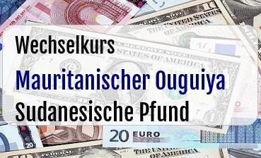 Mauritanischer Ouguiya in Sudanesische Pfund