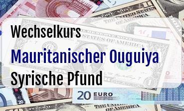 Mauritanischer Ouguiya in Syrische Pfund