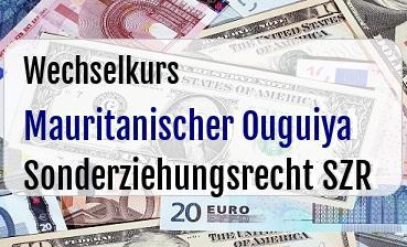 Mauritanischer Ouguiya in Sonderziehungsrecht SZR