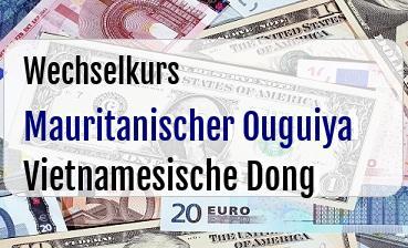Mauritanischer Ouguiya in Vietnamesische Dong