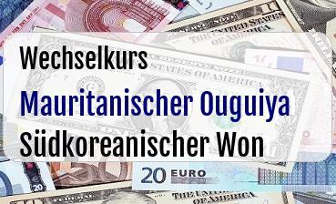 Mauritanischer Ouguiya in Südkoreanischer Won