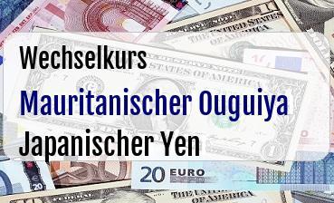 Mauritanischer Ouguiya in Japanischer Yen