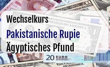 Pakistanische Rupie in Ägyptisches Pfund