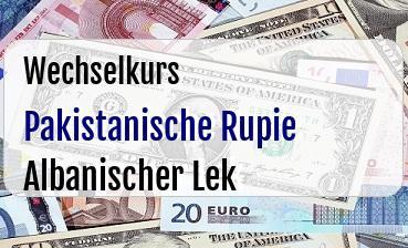 Pakistanische Rupie in Albanischer Lek