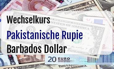 Pakistanische Rupie in Barbados Dollar