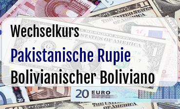 Pakistanische Rupie in Bolivianischer Boliviano
