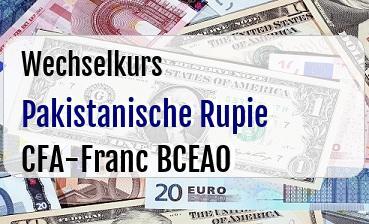 Pakistanische Rupie in CFA-Franc BCEAO