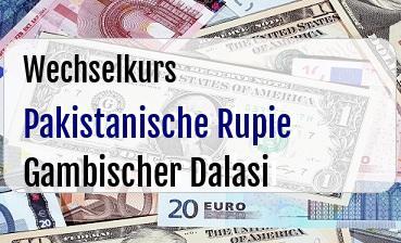 Pakistanische Rupie in Gambischer Dalasi