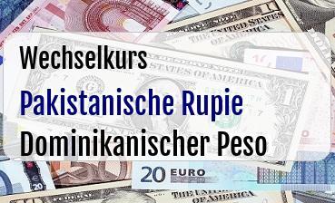 Pakistanische Rupie in Dominikanischer Peso