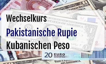 Pakistanische Rupie in Kubanischen Peso