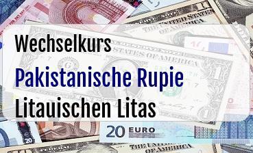 Pakistanische Rupie in Litauischen Litas