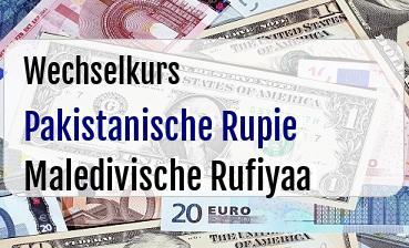 Pakistanische Rupie in Maledivische Rufiyaa