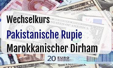 Pakistanische Rupie in Marokkanischer Dirham