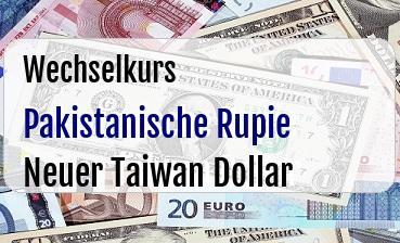 Pakistanische Rupie in Neuer Taiwan Dollar