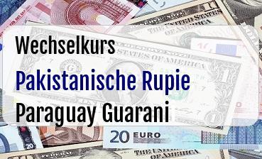 Pakistanische Rupie in Paraguay Guarani