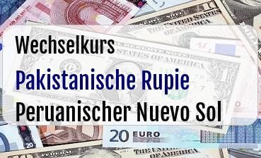 Pakistanische Rupie in Peruanischer Nuevo Sol