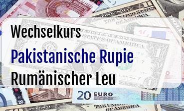 Pakistanische Rupie in Rumänischer Leu