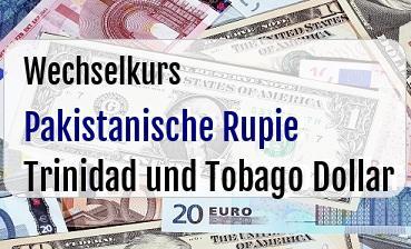 Pakistanische Rupie in Trinidad und Tobago Dollar