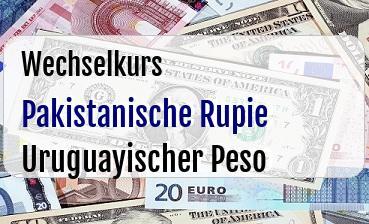 Pakistanische Rupie in Uruguayischer Peso