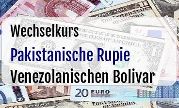 Pakistanische Rupie in Venezolanischen Bolivar