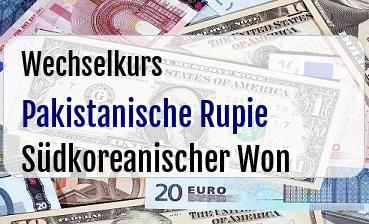 Pakistanische Rupie in Südkoreanischer Won