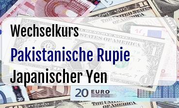 Pakistanische Rupie in Japanischer Yen