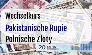 Pakistanische Rupie in Polnische Zloty