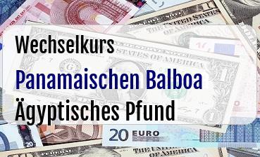 Panamaischen Balboa in Ägyptisches Pfund