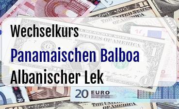 Panamaischen Balboa in Albanischer Lek