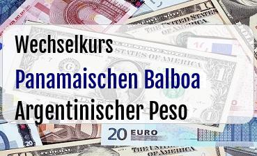 Panamaischen Balboa in Argentinischer Peso