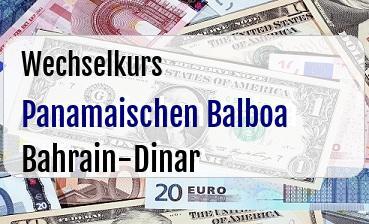 Panamaischen Balboa in Bahrain-Dinar