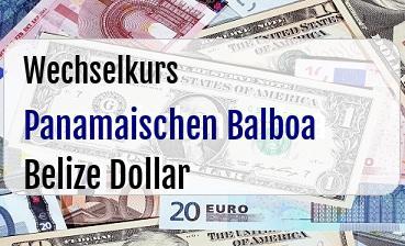 Panamaischen Balboa in Belize Dollar