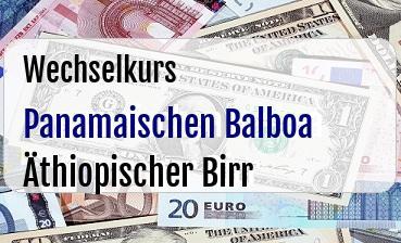 Panamaischen Balboa in Äthiopischer Birr