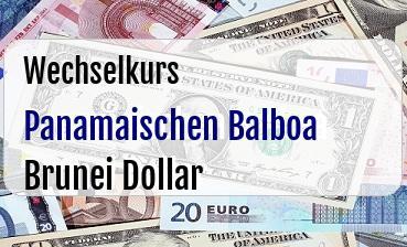 Panamaischen Balboa in Brunei Dollar