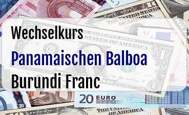 Panamaischen Balboa in Burundi Franc