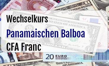 Panamaischen Balboa in CFA Franc