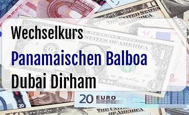 Panamaischen Balboa in Dubai Dirham