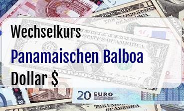 Panamaischen Balboa in US Dollar