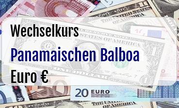 Panamaischen Balboa in Euro