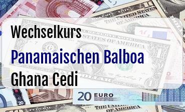 Panamaischen Balboa in Ghana Cedi